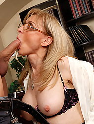 Nina Hartley & Xander Corvus in My First Sex Teacher - Naughty America
