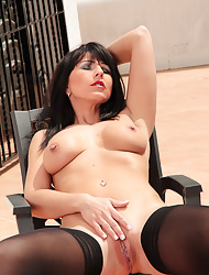 Desyras Nylon Sex :: Sexy German MILF On touching Stockings Pantyhose Added to Nylon Layers