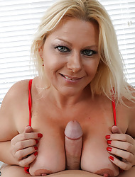 Sex-crazed milf milking coupled with sucking youth beam chubby weasel words
